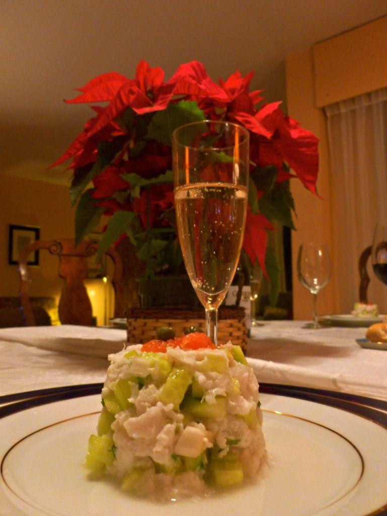 Ceviche de merluza en Nochebuena